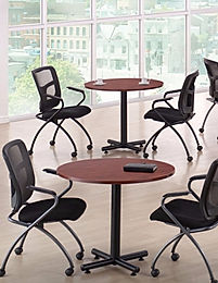 "MPT01F: 36"" Round Table with Black X-Base"