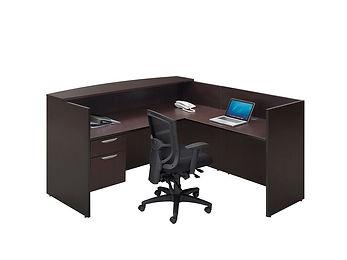 R06B: L-shaped reception desk