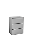 """F06A: 36"""" wide 3 drawer metal lateral file"""