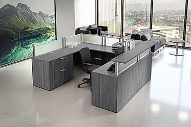 R25A: U-shaped reception desk