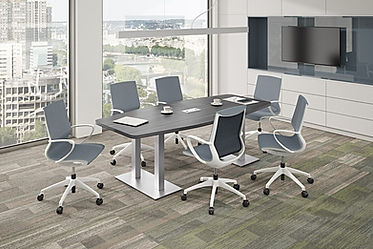 CT08.4B: 8' boat-shaped conference table
