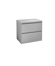 """F04A: 36"""" wide 2 drawer metal lateral file"""