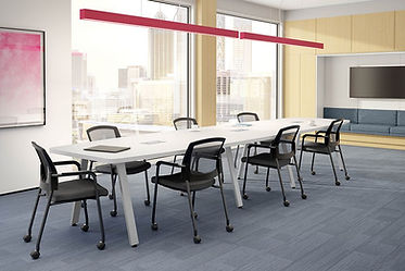 CT13.7A: 16' boat shaped conference table