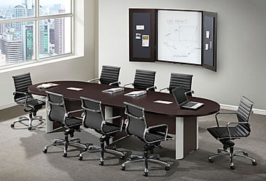 CT07.4A: 10' Racetrack laminate conference table