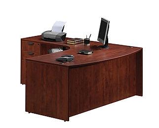L07.1A: Ergo bow-front L-desk