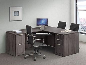 L07.3A: Double pedestal desk