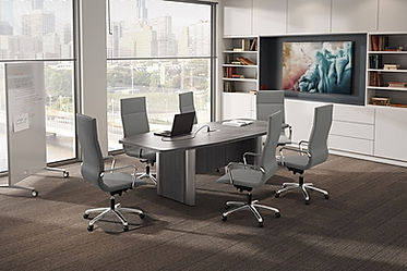 CT05.0A: 8' boat shaped conference table