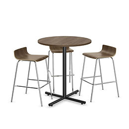 """MPT02B: 36"""" Cafe height Table with X-Base"""