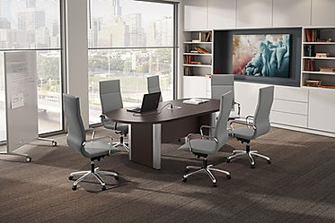 CT05.0B: 8' racetrack conference table