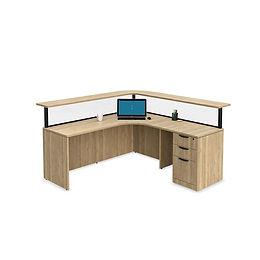 R11A: L-shaped reception desk