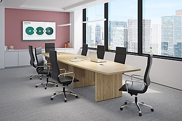 CT09.5A: 16' boat shaped conference table