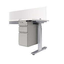 SS02A: BF pedestal for electric sit/stand desks