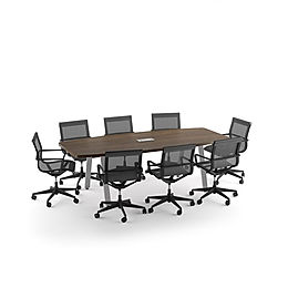 CT04.9A: 8' boat shaped conference table