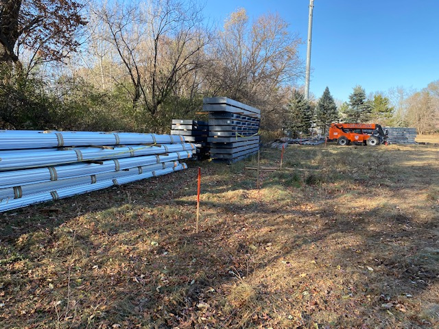 Steel structure arrives