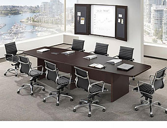 CT05.1A: 10 'Boat shaped laminate conference table