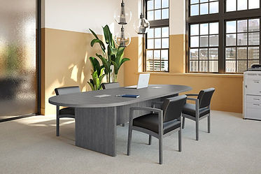 CT05.1B: 8' racetrack conference table