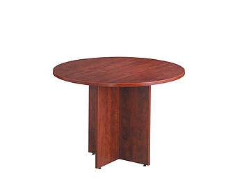 """MPT01B: 36"""" Round Table with Cross Base"""
