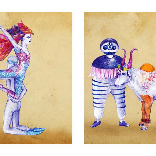 Dancers from Garden of Earthly Delights II