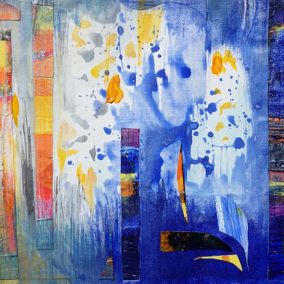 Abstract in Blue and Yellow