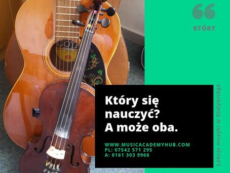 Który się nauczyć? Klasyczna gitara czy skrzypce?