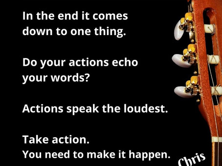 Action, not words - #mondaymotivation