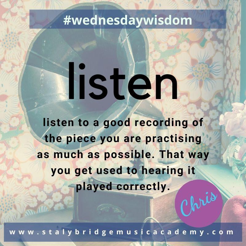 Listen - often