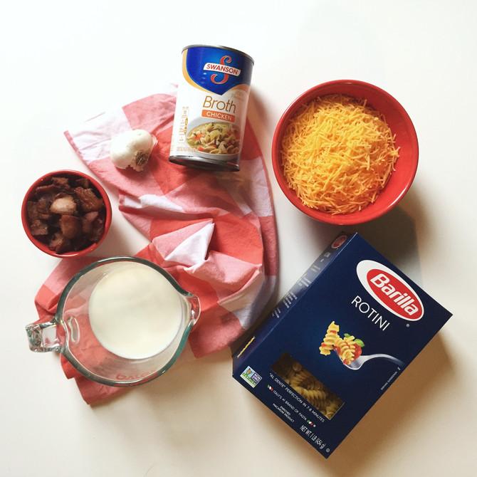 One-Pot Bacon Cheddar Pasta