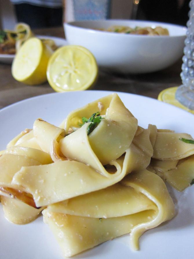 Creamy Lemon Pappardelle