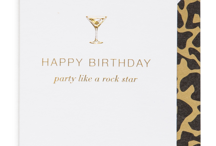 Cardsome Mini Cards Happy Birthday, party like a Rockstar