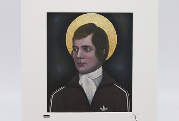 Ross Muir Rabbie print with mount