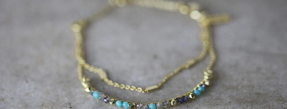 Nkuku Aja lolite gold bracelet