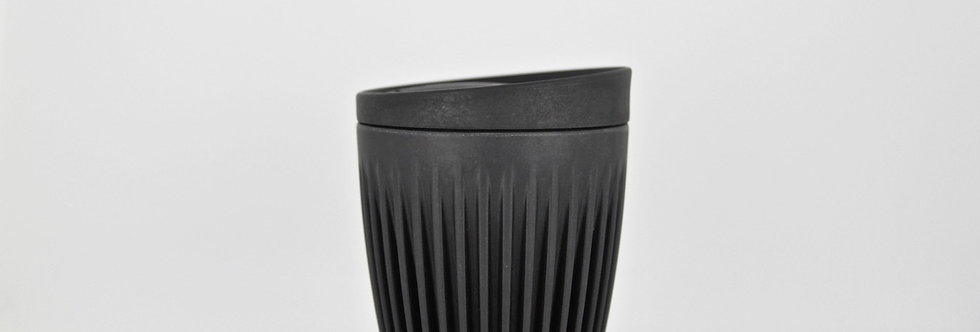 HuskeeCup with lid. Charcoal 8oz