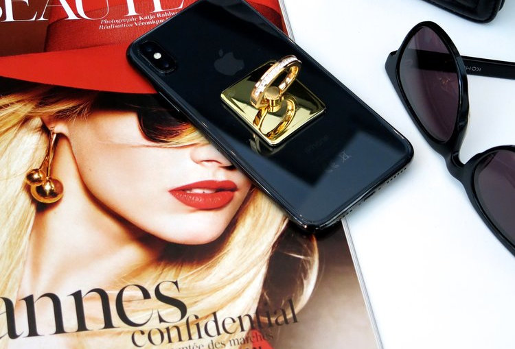 Cardsome Chic Phone Ring gold