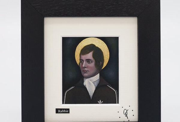 Ross Muir mini Rabbie framed print
