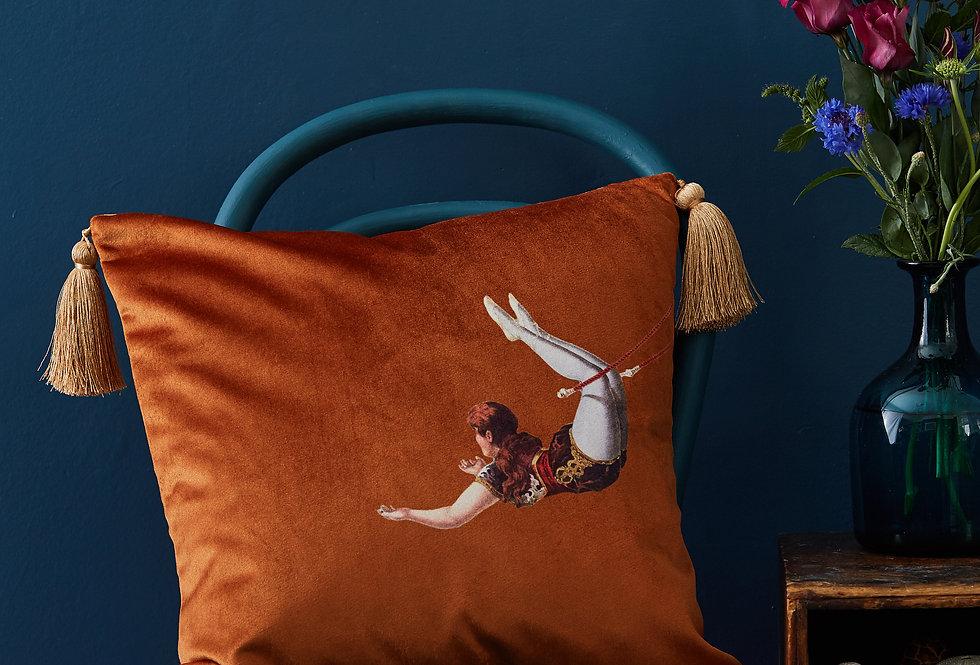 Melody Rose Trapeze orange cushion