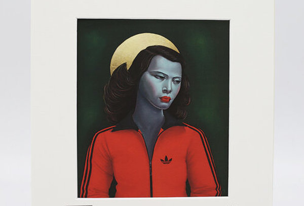 Ross Muir Green Lady print with mount