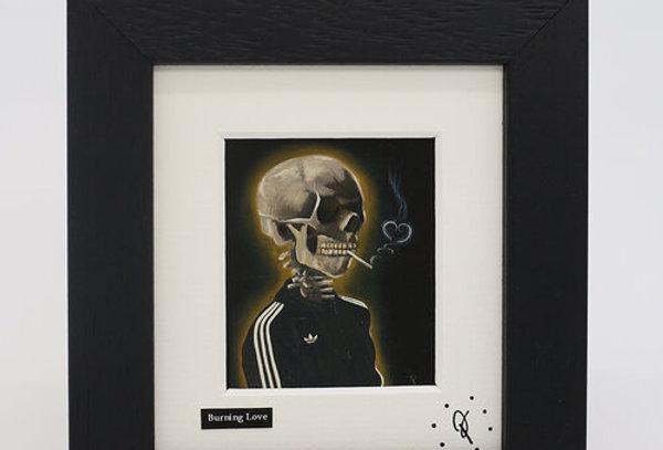 Ross Muir mini Burning Love framed print