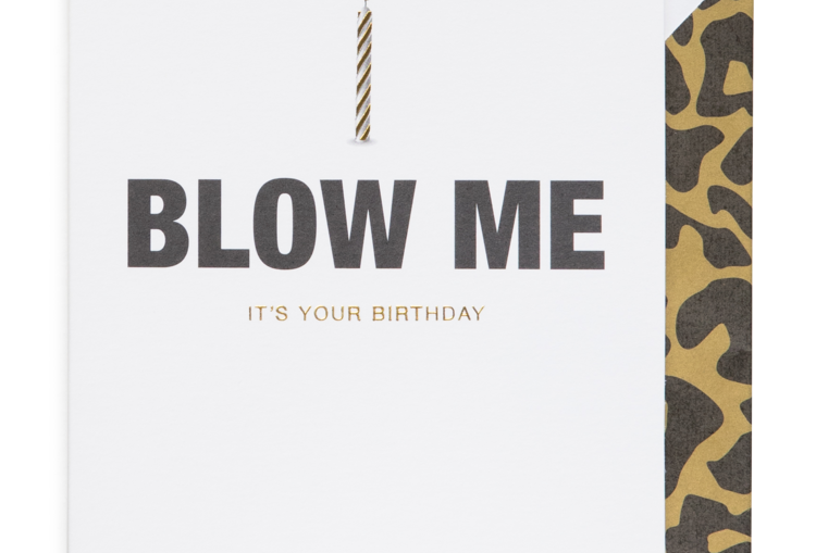 Cardsome Blow Me it's your birthday