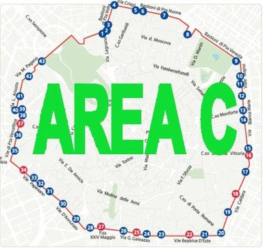 mappa area c,mappa parcheggi milano area c