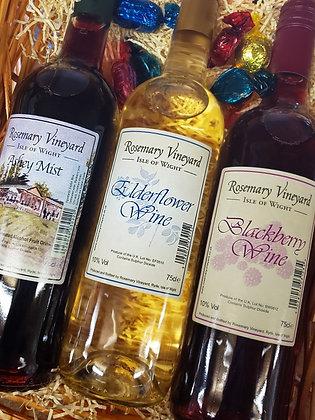 ROSEMARY VINEYARD FRUIT WINE  - 3 BOTTLE GIFT SET