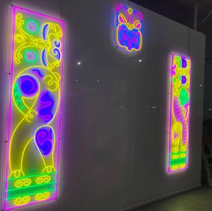 Neon lights- Pohutukawa, Paki, and Hiwa i te Rangi