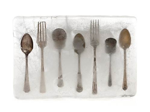 Forks and Spoons in Ice 8x10 matted print