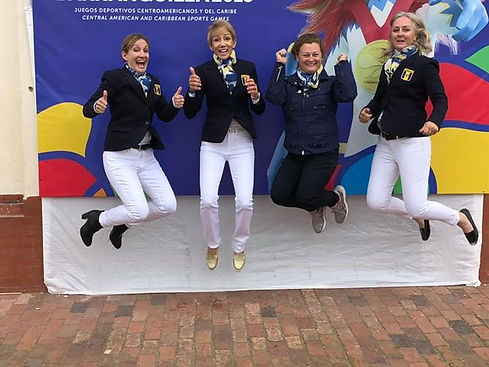 Barbados dressage team Celebrating at th