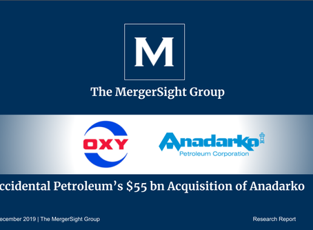 Occidental Petroleum's $55 billion Acquisition of Anadarko Petroleum Corporation