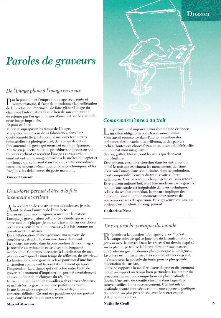 Anne-catherine nesa publications graveur paris artiste