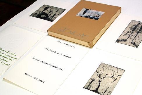 Anne-Catherine Nesa Editions gravure offrande à la nature