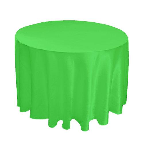 SATIN APPLE GREEN TABLE CLOTH