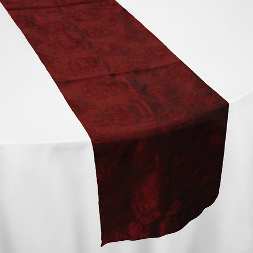 BURGUNDY (TWIRL EMBROIDERY) RUNNER