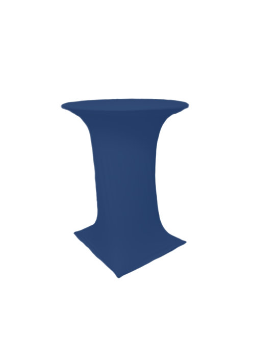 NAVY BLUE COCTAIL STRETCH TABLE CLOTH