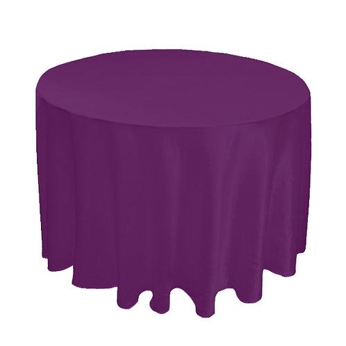 SATIN PURPLE TABLE CLOTH